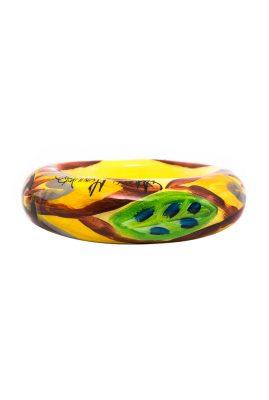 Alfonso Mendoca Flor de Sinu amarillo bangle handgemaakte statement sieraden