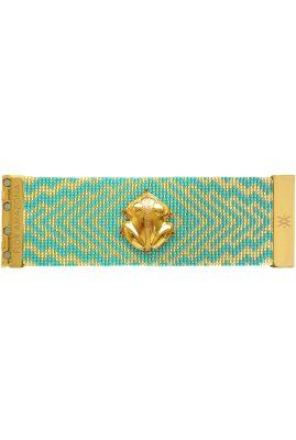 Flor Amazona glaskralen El Dorado Bahia armband 24 karaat verguld luxury bijoux