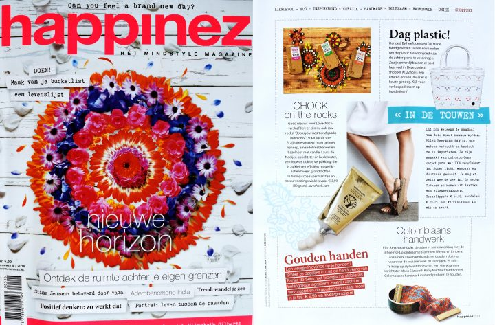 Flor Amazona in Happinez Magazine