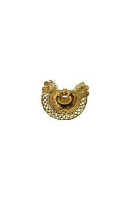 Flor Amazona 24 karaat verguld Dos Serpientes statement ring luxury bijoux