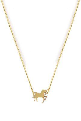 Flor Amazona Unicorn ketting 24 karaat verguld luxury bijoux musthave