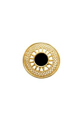 Flor Amazona 24 karaat verguld Sue black statement ring luxury bijoux
