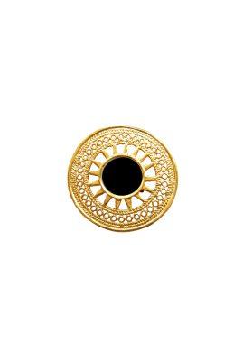 Flor Amazona 24 karaat verguld Sue black statement ring luxury bijoux