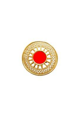 Flor Amazona 24 karaat verguld Sue Red statement ring luxury bijoux
