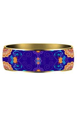 matrioshka blue bangle Flor Amazona styleandstories