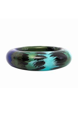 Alfonso Mendoca Pavo Real bangle handgemaakte statement sieraden
