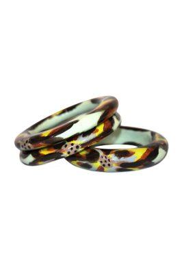 Alfonso Mendoca Atardecer Floral bangle trinidad handgemaakte statement sieraden