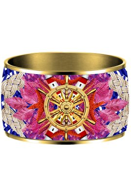 Flor Amazona Baru Rave emaille bangle 24 karaat verguld luxury bijoux voorkant