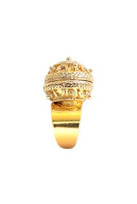 Flor Amazona La Joya statement ring 24 karaat vergulde luxury bijoux voorkant