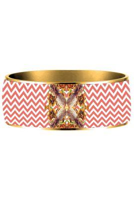 Flor Amazona 24 karaat verguld Pineapple Crush emaille bangle luxury bijoux achterkant