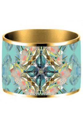 Flor Amazona 24 karaat verguld Crystal Bug emaille bangle luxury bijoux voorkant