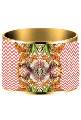 Flor Amazona 24 karaat verguld Pineapple Crush emaille bangle luxury bijoux voorkant
