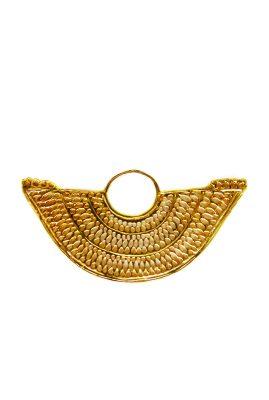 Flor Amazona Abanico statement ring 24 karaat verguld luxury bijoux voorkant