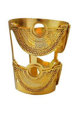 Flor Amazona Abanico statement cuff 24 karaat verguld luxury bijoux musthave
