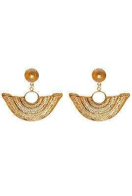 Flor Amazona Abanico statement oorbellen 24 karaat verguld luxury bijoux