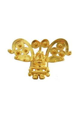 Flor Amazona Cacique statement ring 24 karaat verguld luxury bijoux musthave
