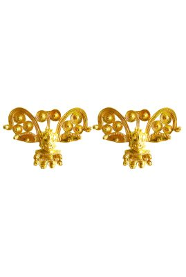 Flor Amazona Cacique statement clip oorbellen 24 karaat verguld luxury bijoux