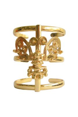 Flor Amazona Cacique statement cuff 24 karaat verguld luxury bijoux musthave