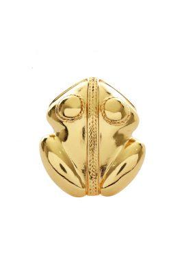 Flor Amazona El Dorado statement ring 24 karaat verguld luxury bijoux voorkant