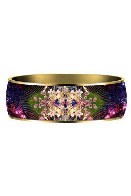 Flor Amazona 24 karaat verguld Colibri Kingdom emaille bangle luxury bijoux achterkant