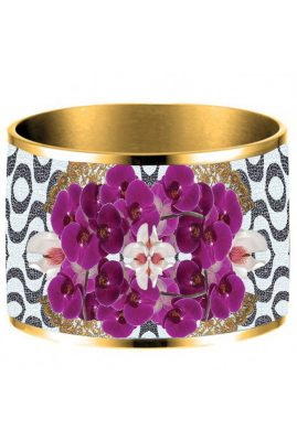 Flor Amazona 24 karaat verguld Copacabana emaille bangle luxury bijoux voorkant