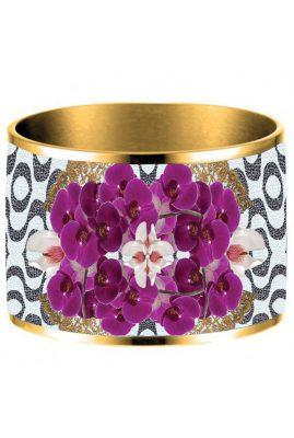 Flor Amazona 24 karaat verguld Copacabana emaille bangle luxury bijoux voorkant