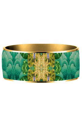 Flor Amazona 24 karaat verguld Rio Mornings emaille bangle luxury bijoux voorkant