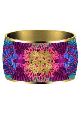 Flor Amazona 24 karaat verguld Taganga Flight emaille bangle luxury bijoux voorkant