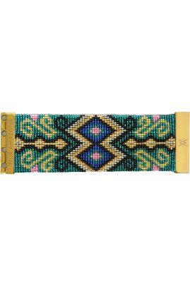 Flor Amazona glaskralen Boavista Green armband 24 karaat verguld luxury bijoux