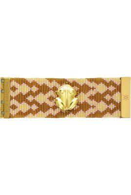 Flor Amazona glaskralen El Dorado Bahia Primavera 24 karaat verguld luxury bijoux