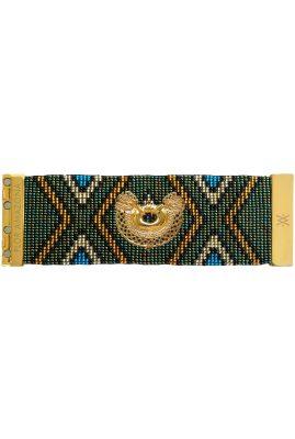 Flor Amazona glaskralen Glamazon Dos Serpientes armband 24 karaat verguld luxury bijoux