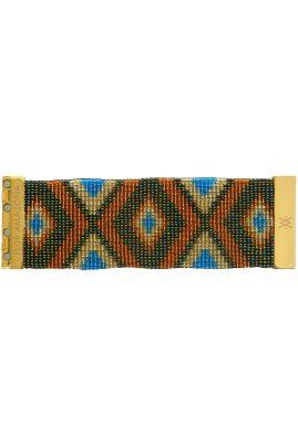 Flor Amazona glaskralen Glamazon Olive armband 24 karaat verguld luxury bijoux