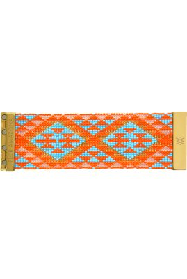Flor Amazona glaskralen Native Orange armband 24 karaat verguld luxury bijoux