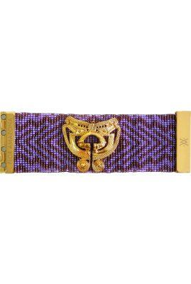 Flor Amazona glaskralen Taganga Purple armband 24 karaat verguld luxury bijoux
