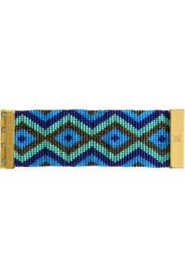 Flor Amazona glaskralen Tulum armband 24 karaat verguld luxury bijoux