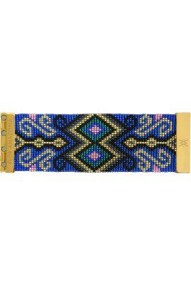 Flor Amazona glaskralen Boavista Blue armband 24 karaat verguld luxury bijoux