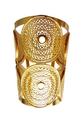 Flor Amazona Macondo statement cuff 24 karaat verguld luxury bijoux musthave