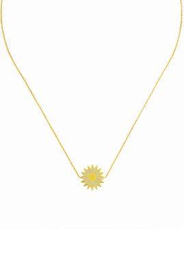 Flor Amazona Daisy ketting 24 karaat verguld luxury bijoux musthave