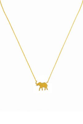 Flor Amazona Elephant ketting 24 karaat verguld luxury bijoux musthave