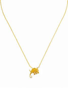 Flor Amazona Elephant head ketting 24 karaat verguld luxury bijoux musthave