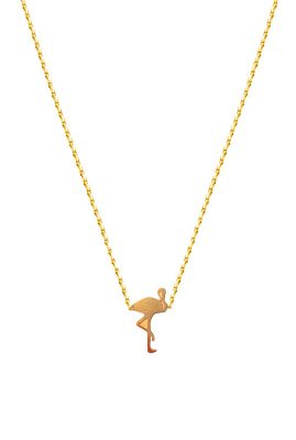 Flor Amazona Flamingo ketting 24 karaat verguld luxury bijoux musthave