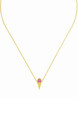 Flor Amazona Icecream ketting 24 karaat verguld luxury bijoux musthave