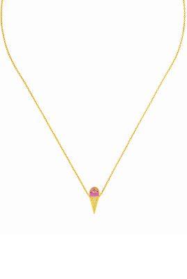 Flor Amazona Icecream ketting 24 karaat verguld luxury bijoux musthave