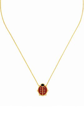 Flor Amazona Lady Bug ketting 24 karaat verguld luxury bijoux musthave