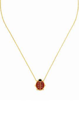 Flor Amazona Lady Bug ketting 24 karaat verguld luxury bijoux musthave