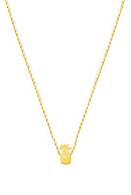 Flor Amazona Pineapple ketting 24 karaat verguld luxury bijoux musthave