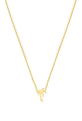 Flor Amazona Palm Tree ketting 24 karaat verguld luxury bijoux musthave