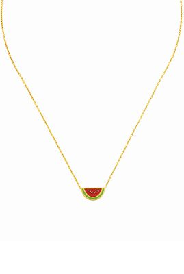 Flor Amazona Watermelon ketting 24 karaat verguld luxury bijoux musthave