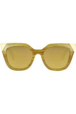 Flor Amazona Victoria Gold handgemaakt zonnebril 24 karaat verguld