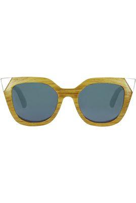 Flor Amazona Victoria Silver handgemaakt zonnebril 24 karaat verguld